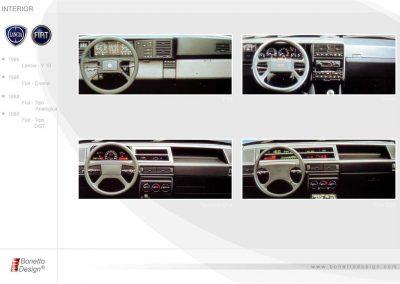 1985 Internui auto Y10 Croma Tipo Fiat Auto
